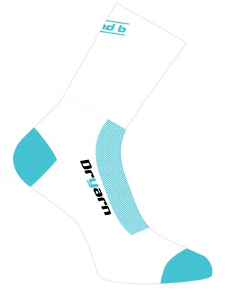 Socks White/Teal